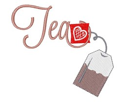 Tea Bag embroidery design