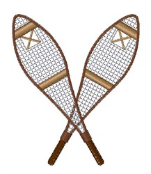 Snow Shoes embroidery design