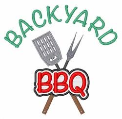 Backyard BBQ embroidery design