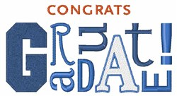 Congrats Graduate embroidery design