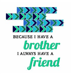 Always Friends embroidery design