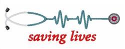 Saving Lives embroidery design