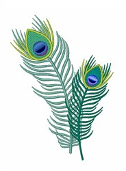Peacock Feathers embroidery design