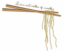 Oodles Of Noodles embroidery design