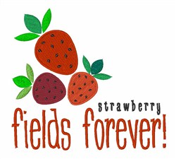 Strawberry Fields Forever! embroidery design