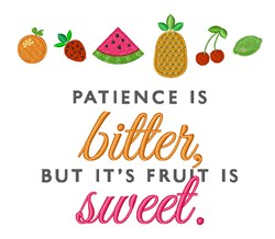 Sweet Tropical Fruit embroidery design