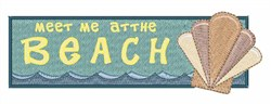 Meet At Beach embroidery design