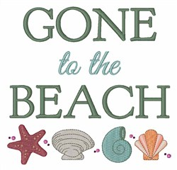 Gone To Beach embroidery design