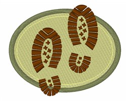 Hike Foot Prints embroidery design