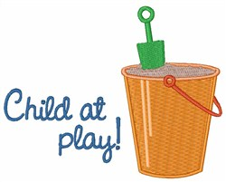Child At Play embroidery design