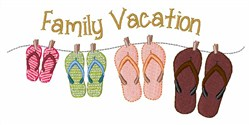 Family Vacation embroidery design