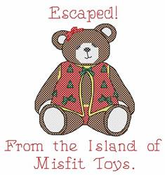 Escaped embroidery design