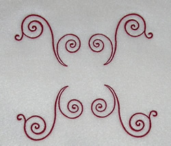 Fancy Scrollwork embroidery design