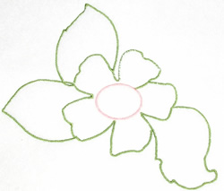 Floral Oultine embroidery design