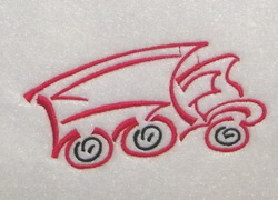 Red Truck Outline embroidery design