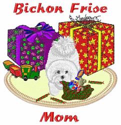 Bichon Frise Mom embroidery design