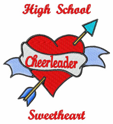 High School Sweetheart embroidery design