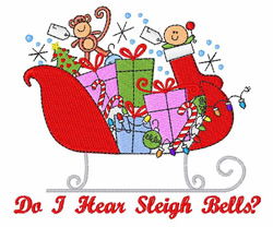 Sleigh Bells embroidery design