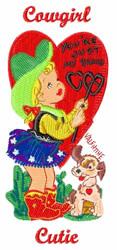 Cowgirl Cutie embroidery design