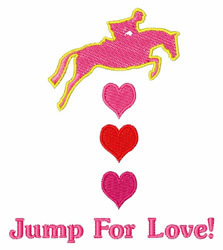 Jump For Love embroidery design