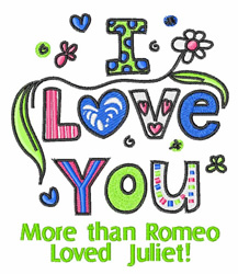 More Than Romeo embroidery design