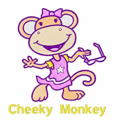 Cheeky Monkey embroidery design