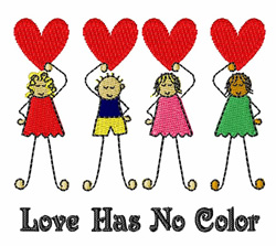 No Color embroidery design