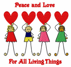 Peace And Love embroidery design