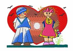 Valentine Kids embroidery design