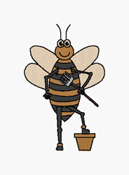 Working Bee embroidery design