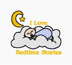 Bedtime Stories embroidery design