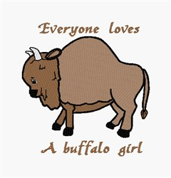 Buffalo Girl embroidery design