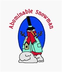 Abominable Snowman embroidery design