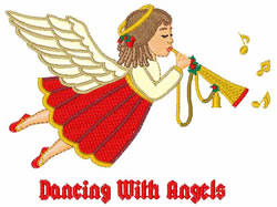 Dancing With Angels embroidery design
