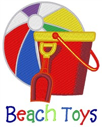 Beach Toys embroidery design
