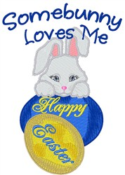 Somebunny Loves Me embroidery design