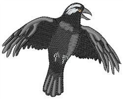 Black Crow embroidery design
