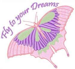 Fly To Your Dreams embroidery design