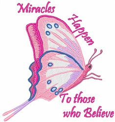 Miracles Happen embroidery design