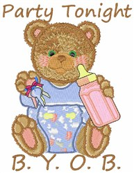 Party Tonight embroidery design