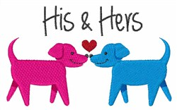 His & Hers embroidery design