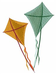 Flying Kites embroidery design