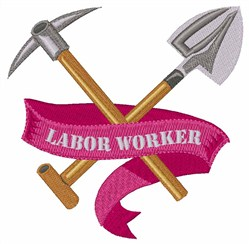 Labor Worker embroidery design