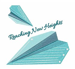 Reach New Heighs embroidery design