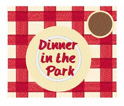 Dinner In The Park embroidery design