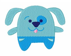Blue Poochy embroidery design