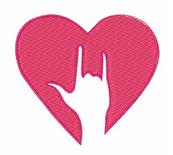 Sign Of Love embroidery design