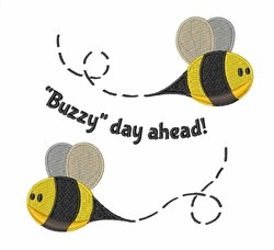 Buzzy Day Ahead! embroidery design