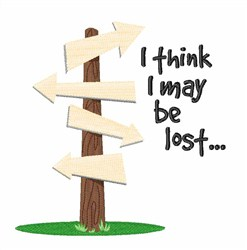 Lost My Way embroidery design