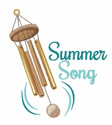 Summer Song embroidery design